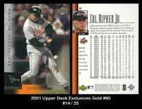 2001 Upper Deck Exclusives Gold #90
