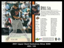 2001 Upper Deck Exclusives Silver #265