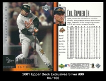 2001 Upper Deck Exclusives Silver #90
