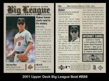 2001 Upper Deck Big League Beat #BB8