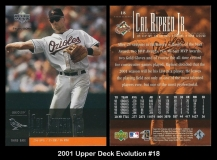 2001 Upper Deck Evolution #18