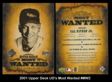 2001 Upper Deck UDs Most Wanted #MW2
