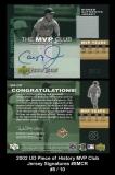 2002 UD Piece of History MVP Club Jersey Signatures #SMCR