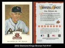 2002 Diamond Kings Bronze Foil #147