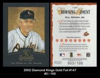 2002 Diamond Kings Gold Foil #147