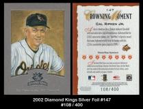 2002 Diamond Kings Silver Foil #147