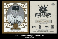 2002 Diamond Kings T204 #RC16