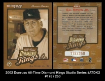2002 Donruss All-Time Diamond Kings Studio Series #ATDK2