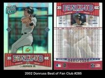 2002 Donruss Best of Fan Club #285