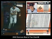 2002 Donruss Best of Fan Club #8