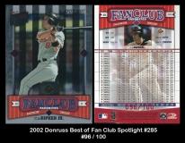 2002 Donruss Best of Fan Club Spotlight #285