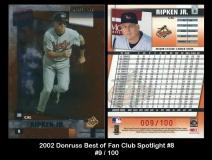 2002 Donruss Best of Fan Club Spotlight #8