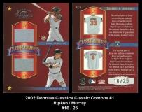 2002 Donruss Classics Classic Combos #1