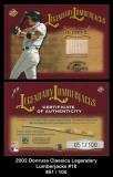 2002 Donruss Classics Legendary Lumberjacks #18