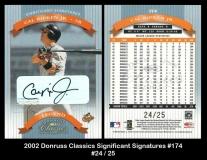 2002 Donruss Classics Significant Signatures #174