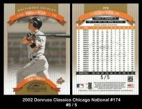 2002 Donruss Classics Chicago National #174