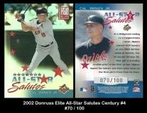 2002 Donruss Elite All-Star Salutes Century #4
