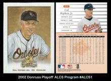 2002 Donruss Playoff ALCS Program #ALCS1