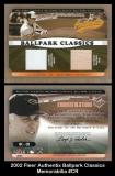 2002 Fleer Authentix Ballpark Classics Memorabilia #CR