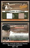2002 Fleer Authentix Ballpark Classics Memorabilia Gold #CR