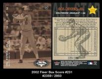 2002 Fleer Box Score #231