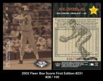 2002 Fleer Box Score First Edition #231