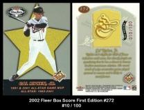 2002 Fleer Box Score First Edition #272