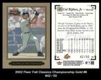 2002 Fleer Fall Classics Championship Gold #8