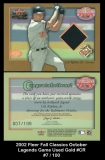 2002 Fleer Fall Classics October Legends Game Used Gold #CR