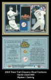 2002 Fleer Fall Classics RIval Factions Game Used #40