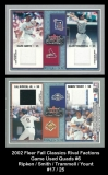 2002 Fleer Fall Classics RIval Factions Game Used Quads #6