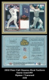 2002 Fleer Fall Classics Rival Factions Game Used #41