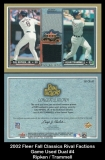 2002 Fleer Fall Classics Rival Factions Game Used Dual #4