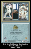 2002 Fleer Fall Classics Rival Factions Game Used Dual #5