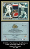 2002 Fleer Fall Classics Rival Factions Game Used Dual Patch #CRAT