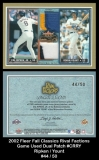 2002 Fleer Fall Classics Rival Factions Game Used Dual Patch #CRRY