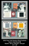 2002 Fleer Fall Classics Rival Factions Game Used Quads #9