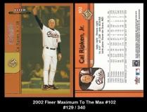 2002 Fleer Maximum To The Max #102