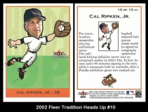 2002 Fleer Tradition Heads Up #10