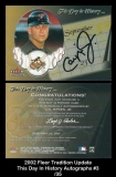 2002 Fleer Tradition Update This Day In History Autographs #3