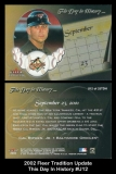 2002 Fleer Tradition Update This Day In History #U12
