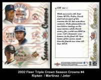 2002 Fleer Triple Crown Season Crowns #4