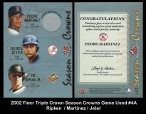 2002 Fleer Triple Crown Season Crowns Game Used #4A