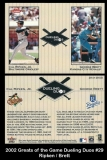 2002 Greats of the Game Dueling Duos #29