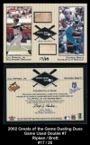 2002 Greats of the Game Dueling Duos Game Used Double #7