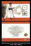 2002 Greats of the Game Through the Years Level 1 #21 Hitting