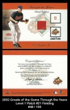 2002 Greats of the Game Through the Years Level 1 Patch #21 Fielding