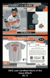 2002 Leaf Certified Fabric of the Game #35JN