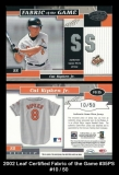 2002 Leaf Certified Fabric of the Game #35PS