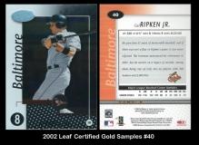 2002 Leaf Certified Gold Samples #40